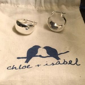 Silver Earrings Chloe + Isabel